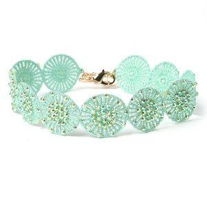 Amrita Singh Mint Crystal Lace Adjustable Choker
